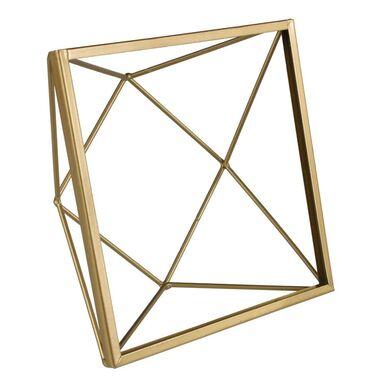 Ramka na zdjęcia REVO 15 x 15 cm złota aluminiowa