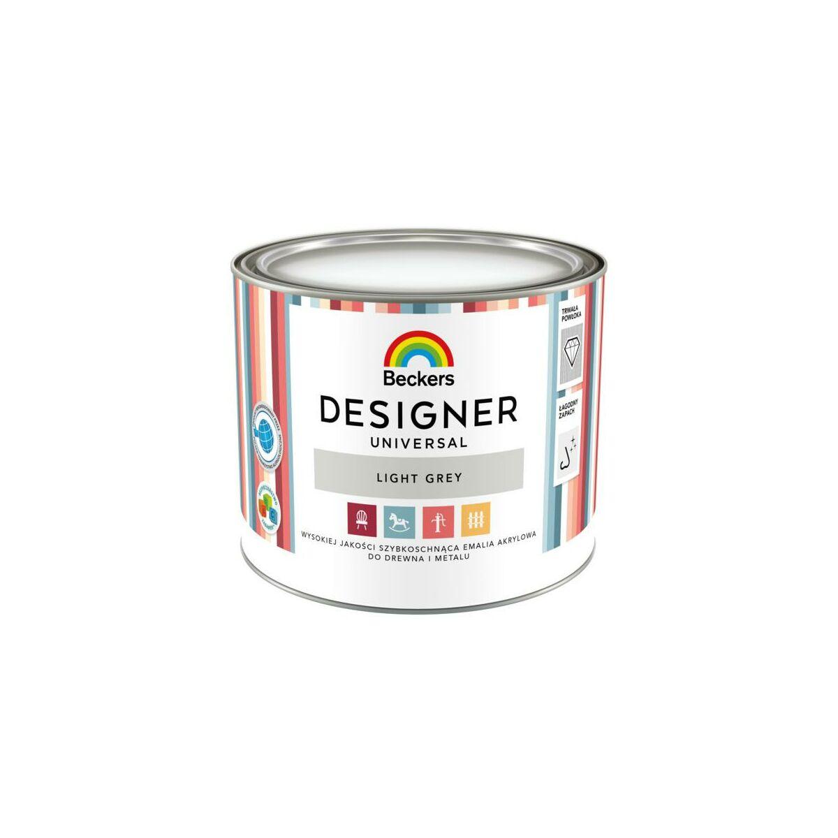 Emalia Designer Universal 0 5 L Light Grey Beckers Emalie Akrylowe Wodne W Atrakcyjnej Cenie W Sklepach Leroy Merlin