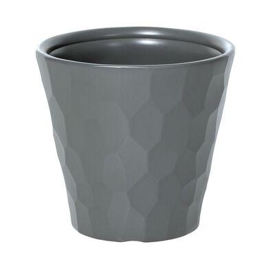 Doniczka plastikowa 34.5 cm szara ROCKA
