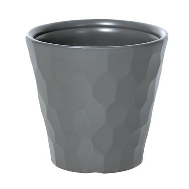Doniczka plastikowa 34.5 cm szara ROCKA PROSPERPLAST