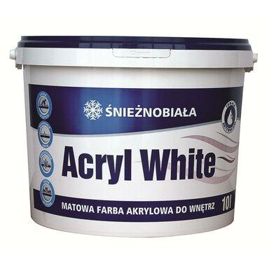 Farba wewnętrzna do ścian i sufitów ŚNIEŻNOBIAŁA 10 l ACRYL WHITE