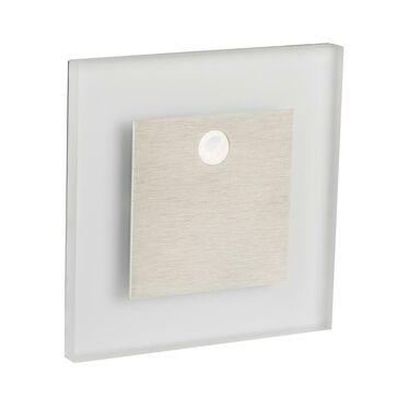 Oprawa schodowa APUS srebrna kwadratowa LED KANLUX