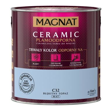 Farba wewnętrzna CERAMIC 2.5 l Błękitny topaz MAGNAT