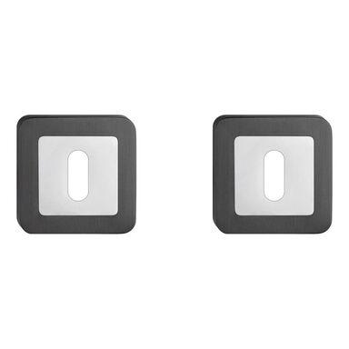 Rozeta podklamkowa pod klucz EUFORIA/IBIZA Chrom/grafit