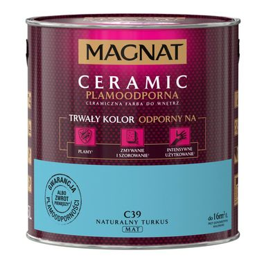Farba wewnętrzna CERAMIC 2.5 l Naturalny turkus MAGNAT