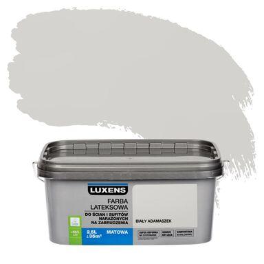 Farba wewnętrzna NARAŻONYCH NA ZABRUDZENIA 2,5 l Biały adamaszek LUXENS