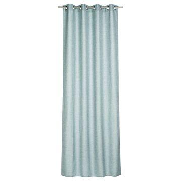 Zasłona LOOKS niebieska 140 x 280 cm na przelotkach INSPIRE