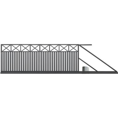 Brama przesuwna BOSTON 400 x 150 cm prawa z automatem POLBRAM