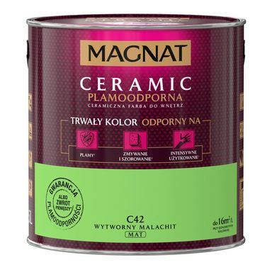 Farba wewnętrzna CERAMIC 2.5 l Wytworny malachit MAGNAT