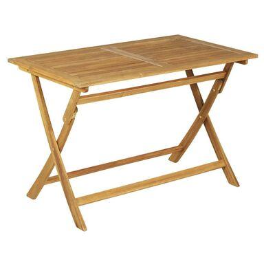 Stół ogrodowy 70 x 120 cm PORTO NATERIAL drewaniany składany