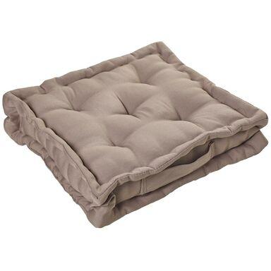 Poduszka na podłogę Elema brązowa 40 x 40 x 10 cm Inspire