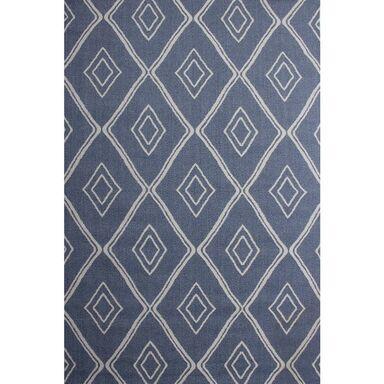 Dywan bawełniany Mersin niebieski 127 x 190 cm