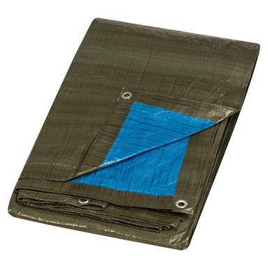 Plandeka ochronna 5 x 8 m zielono-niebieska uniwersalna