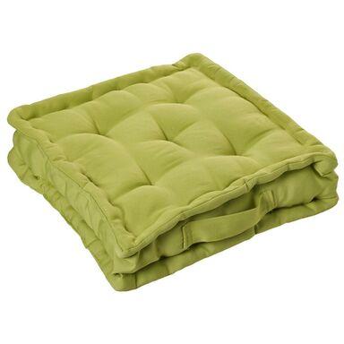 Poduszka na podłogę ELEMA zielona 40 x 40 x 10 cm INSPIRE