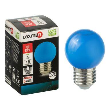 Żarówka dekoracyjna LED E27 (230 V) 2.8 W 249 lm niebieska LEXMAN