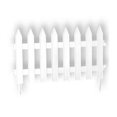 Płotek ogrodowy 320 x 35 cm plastikowy biały GARDEN PROSPERPLAST