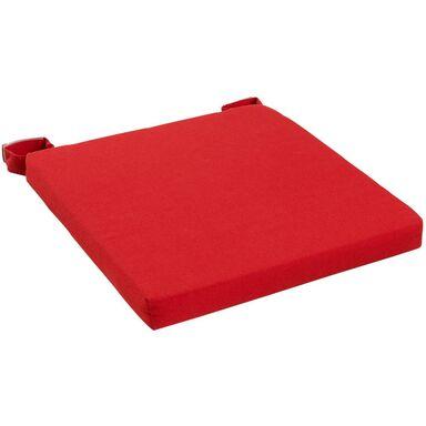 Poduszka na krzesło Joy czerwona 40 x 40 x 4 cm Inspire