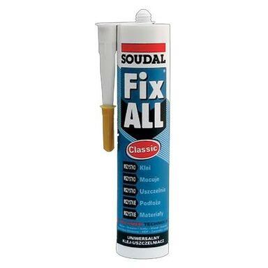 Klej montażowy uszczelniacz HYBRYDOWY FIX ALL 290 ml biały SOUDAL