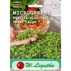 Bazylia właściwa nasiona microgreens BIO Sweet Large W. LEGUTKO