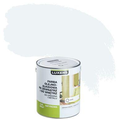 Emalia OLEJNO-ALKIDOWA 2,5 l White LUXENS