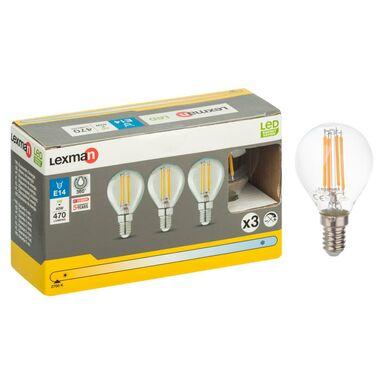 Zestaw żarówek LED E14 (230 V) 4 W 470 lm Ciepła biel LEXMAN