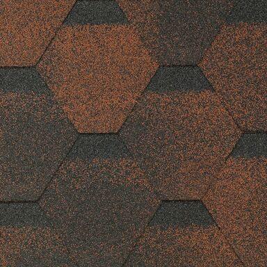 Gont bitumiczny HEXAGONALNY Czerwony 3 m2 MIDA
