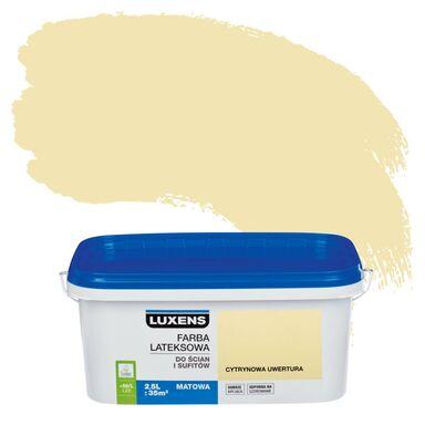Farba wewnętrzna EMULSJA 2.5 l Cytrynowa uwertura LUXENS