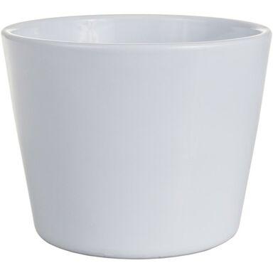 Osłona doniczki ceramiczna 12 cm biała PRYMULA/POINSECJA