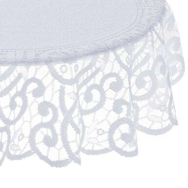 Obrus na stół CYRYL biały okrągły śr. 100 cm