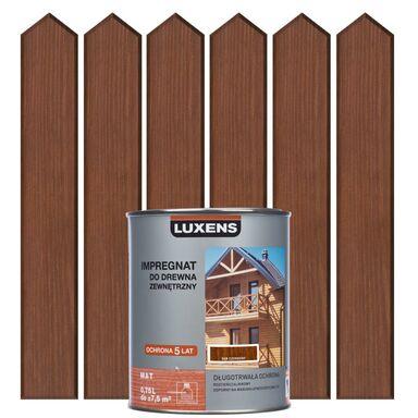 Impregnat do drewna ZEWNĘTRZNY 0.75 l Dąb czerwony LUXENS