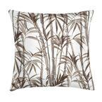 Poduszka z motywem roślinnym beżowa 45 x 45 cm
