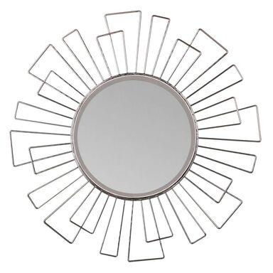 Lustro dekoracyjne Margerie srebrne śr. 40 cm