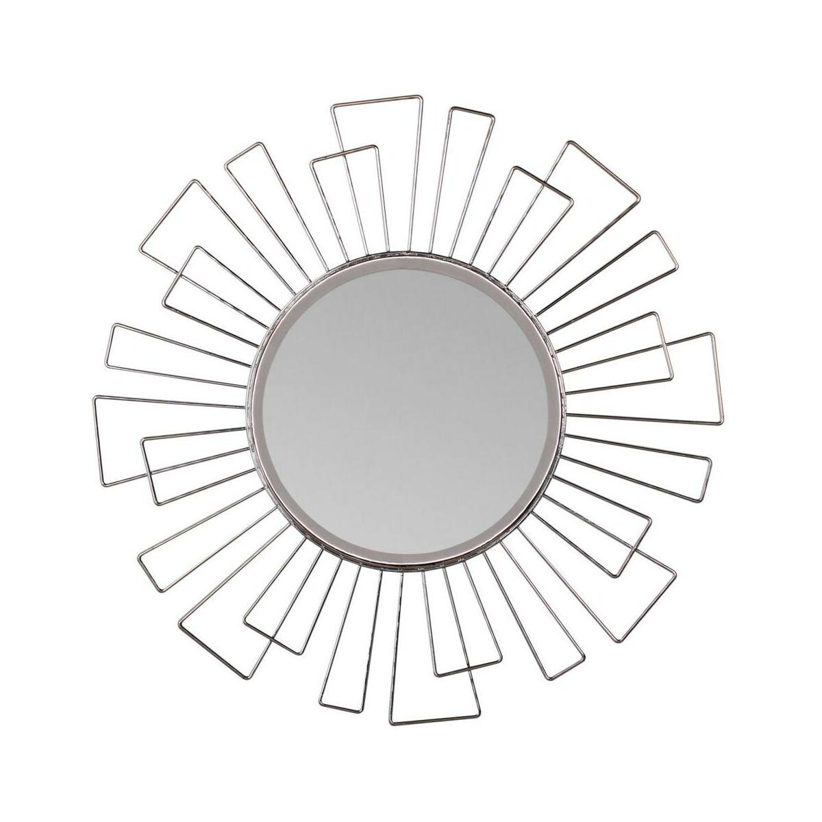 Lustro Dekoracyjne Margerie Srebrne śr 40 Cm