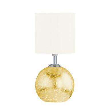 Lampa stołowa CARMEN złoto-biała E14 + GU9 WOFI