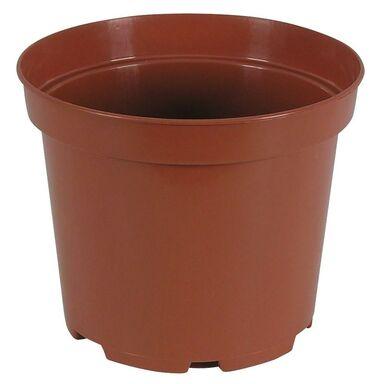 Doniczka Plastikowa 20 Cm Brązowa Produkcyjna