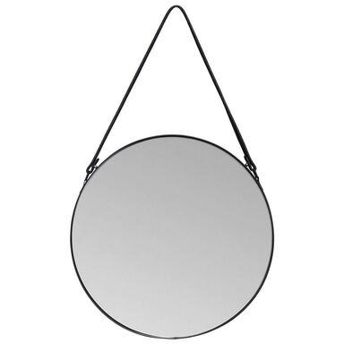 Lustro okrągłe PERITO na pasku czarne śr. 40 cm