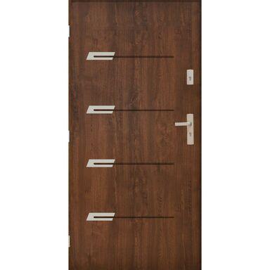 Drzwi zewnętrzne stalowe  MONAKO Orzech 90 Lewe PANTOR