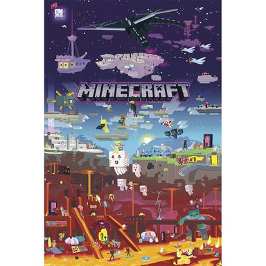 Plakat MINECRAFT-WORLD BEYOND 61 x 91.5 cm