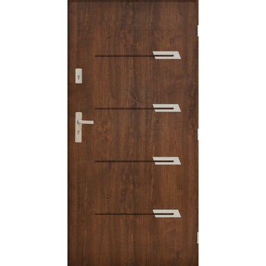 Drzwi wejściowe MONAKO Orzech 90 Prawe PANTOR