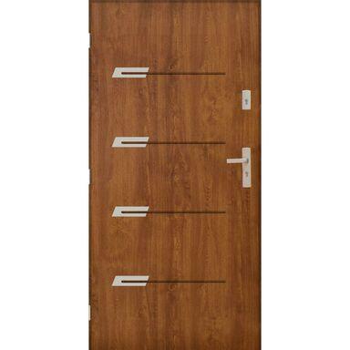 Drzwi zewnętrzne stalowe  MONAKO Złoty dąb 80 Lewe PANTOR