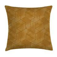 Poduszka w geometryczny wzór żółta 45 x 45 cm