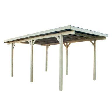 Wiata garażowa drewniana z dachem PVC 304 x 500 x 236 cm STELMET