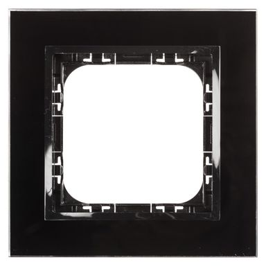 Ramka pojedyncza IMPRESJA  czarne szkło  OSPEL