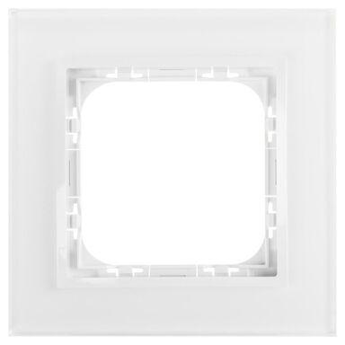 Ramka pojedyncza IMPRESJA  białe szkło  OSPEL