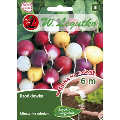 Nasiona warzyw MIESZANKA ODMIAN KULISTYCH Rzodkiewka W. LEGUTKO