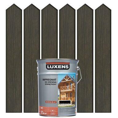 Impregnat do drewna ZEWNĘTRZNY 4.5 l Palisander brązowy LUXENS