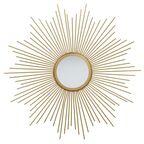 Lustro dekoracyjne Sun złote śr. 55 cm Inspire