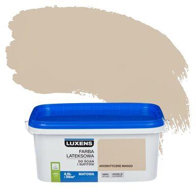 Farba wewnętrzna do ścian i sufitów EMULSJA 2.5 l Aromatyczne mango LUXENS