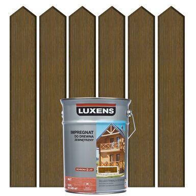Impregnat do drewna ZEWNĘTRZNY 4.5 l Kasztan LUXENS