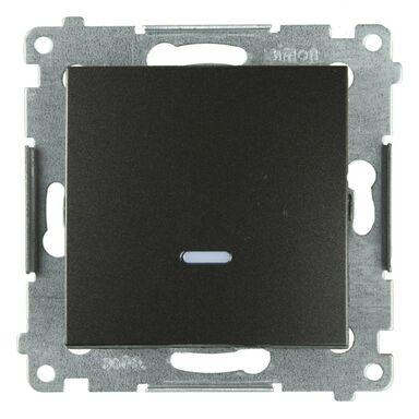 Włącznik pojedynczy z podświetleniem SIMON 54  antracyt  SIMON